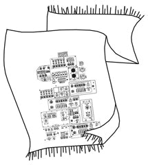 Space Shuttle Controls Pashmina