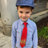 youth size robot clip on tie