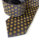 45 RPM Record Adapter Necktie, mustard on charcoal. by Cyberoptix