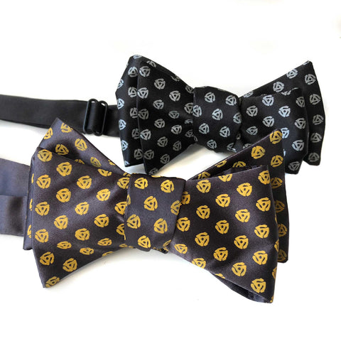 45 Adapter Bow Tie, 45 RPM Polka Dot