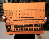 808 Art Print, Vintage Drum Machine Poster  Auto renew