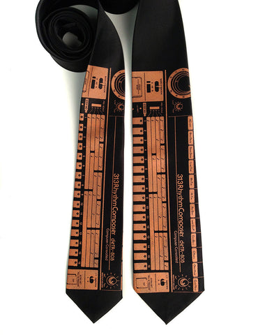 808 Drum Machine Necktie - Silk or Microfiber