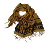 808 scarf: black on golden olive