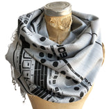 909 Sequencer Linen-Weave Scarf, Movement Festival Pashmina, by Cyberoptix