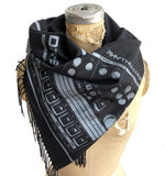 Detroit TR-909 Drum Sequencer Linen-Weave Pashmina Scarf, Accessories for Women, by Cyberoptix