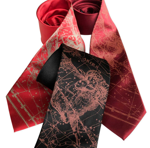Aries Necktie, Zodiac Constellation Star Chart Tie