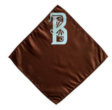 Custom monogrammed pocket square, letter B