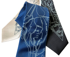 Detroit Map Tie, Belle Isle Necktie