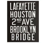 NYC Subway Poster. Brooklyn Bridge Art Print