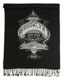 Brooklyn Scarf. New York City scarf. Black and silver. Cyberoptix