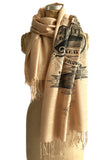 Sand Brooklyn New York Pashmina Scarf. New York City print. By Cyberoptix