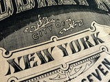 Sand Brooklyn Typography Scarf. New York City print. By Cyberoptix