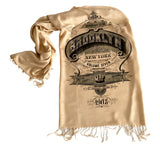 Sand Brooklyn Scarf. New York City print. By Cyberoptix