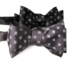 Cat Face Bow Tie, Repeating Cat Dot Print