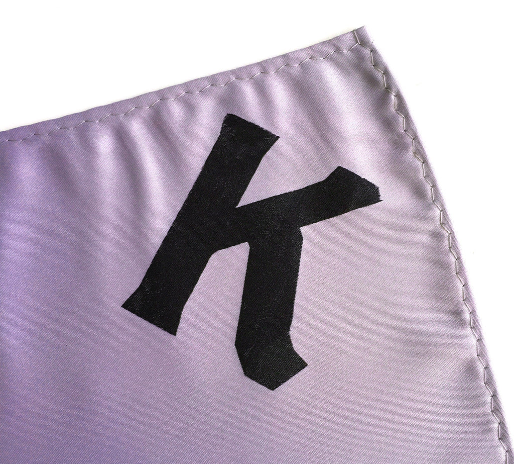 Initial Pocket Square Personalized Hanky