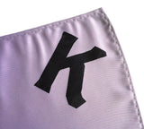 Lavender monogrammed pocket square, by Cyberoptix