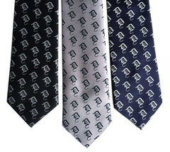 Old English Detroit D Dot Pattern Necktie