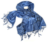 DNA Double Helix scarf: black on cornflower