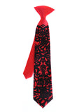 Red boys Day of the Dead kids clip-on tie.