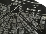 Detroit Map Printed Linen Weave Pashmina Scarf, 1831 City Plan