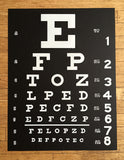 Black Eye Chart Art Print Poster, by Cyberoptix