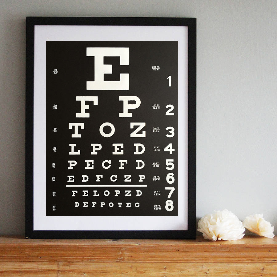 Eye Chart Art Print Poster By Cyberoptix