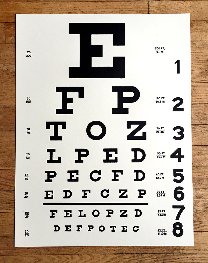 picture relating to Eye Chart Printable identify Eye Chart Artwork Print Poster