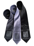 Hamlet Print Neckties, Shakespeare Ties, by Cyberoptix