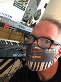 Juno Face Mask, Vintage Synthesizer Fitted Face Cover
