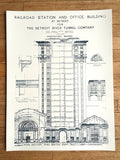 MCS Train Station Blueprint, by Cyberoptix. Silkscreen wall art print