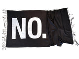 No Print scarf. No means no. White on black, by Cyberoptix