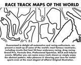 Race Tracks of the World fabric face cover, track map adjustable mask