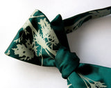 Absinthe bow tie. Sage on emerald green bowtie.