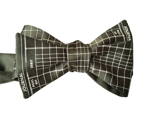 Accountant Bow Tie, Ledger Paper Print