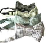 Celery green Accountant Bow Ties, Ledger Paper Print bowties, by Cyberoptix