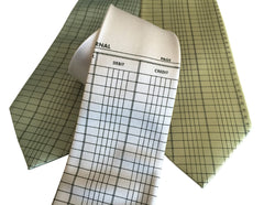 Accountant Necktie, Ledger Paper Tie