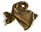 Bookkeeper Scarf. Ledger Paper linen weave pashmina by Cyberoptix