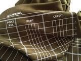 Golden Olive Accountant Scarf. Ledger Paper linen weave pashmina by Cyberoptix