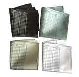 Bookkeeper Pocket Squares, Ledger Paper Print. By Cyberoptix