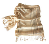 Accounting fringed scarf, luxe weight. Accountant gift by Cyberoptix.