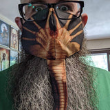 Face Hugger Mask. Aliens-inspired, adjustable fabric face cover. Xenomorph, Facehugger face mask