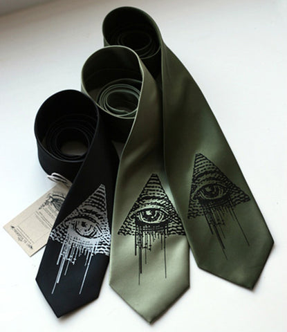 All Seeing Eye Silk Necktie