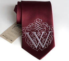 Initial Necktie. Personalized Monogram Tie, AlphabeTIES