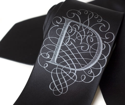 "Initial Silk Necktie. Personalized ""AlphabeTIES"" Tie"