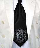 "Initial Cravat Tie. Personalized ""AlphabeTIES"" Ascot."