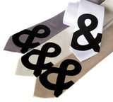 Ampersand Neckties
