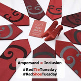 Caslon Ampersand Neckties by Cyberoptix. Red Tie Tuesday, The Red Shoe Movement.