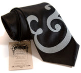 Black and grey ampersand necktie, by Cyberoptix
