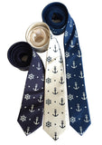 Anchor Print Neckties, Nautical Ties by Cyberoptix