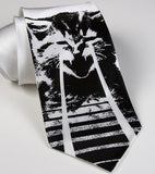 White Laser Cat Necktie.